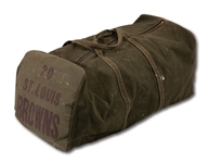 1940S ST. LOUIS BROWNS EQUIPMENT BAG (DELBERT MICKEL COLLECTION)