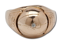 1955-56 PHILADELPHIA WARRIORS WORLD CHAMPIONSHIP 14K GOLD RING