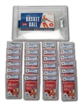 1961-62 FLEER BASKETBALL UNOPENED 24 COUNT WAX BOX WITH ALL PACKS GAI GRADED