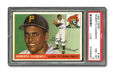 1955 TOPPS #164 ROBERTO CLEMENTE ROOKIE NM-MT PSA 8