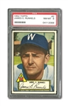 1952 TOPPS #2 PETE RUNNELS (BLACK BACK) NM-MT PSA 8