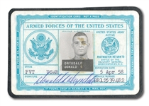 DON DRYSDALES PERSONAL SIGNED ARMED FORCES OF THE UNITED STATES IDENTIFICATION CARD (DRYSDALE COLLECTION)