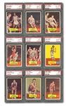 1957-58 TOPPS BASKETBALL PSA GRADED COMPLETE SET OF 80 (ABOUT 70% NM OR BETTER) - THE #15 SET ON THE PSA REGISTRY WITH A 6.770 SET RATING