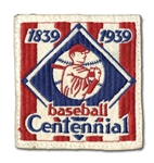 ORIGINAL 1939 BASEBALL CENTENNIAL UNIFORM SLEEVE PATCH (DELBERT MICKEL COLLECTION)