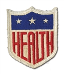 ORIGINAL 1942 MLB HEALTH UNIFORM SLEEVE PATCH (DELBERT MICKEL COLLECTION)