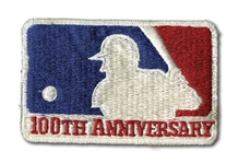 ORIGINAL 1969 MLB 100TH ANNIVERSARY UNIFORM SLEEVE PATCH (DELBERT MICKEL COLLECTION)