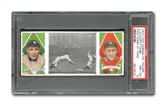 "1912 T202 HASSAN TRIPLE FOLDER ""FAST WORK AT THIRD"" TY COBB/OLEARY NM-MT PSA 8 (1/7)"