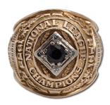 DUKE SNIDERS 1953 BROOKLYN DODGERS NATIONAL LEAGUE CHAMPIONS 10K GOLD RING (SNIDER COA)
