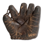 "CIRCA 1915 CHARLES ALBERT ""CHIEF"" BENDER GAME WORN FIELDERS GLOVE (HELMS/LA84 MUSEUM PROVENANCE)"
