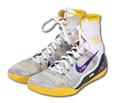 1/13/2015 KOBE BRYANT DUAL SIGNED & INSCRIBED PAIR OF GAME WORN (LAKERS VS. HEAT) NIKE KOBE IX ELITE SHOES (PANINI COA)
