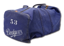 DON DRYSDALES LATE 1950S - EARLY 1960S LOS ANGELES DODGERS GAME USED EQUIPMENT BAG (DRYSDALE COLLECTION)