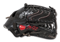 2013 MIKE TROUT GAME USED, SIGNED & INSCRIBED NIKE DIAMOND ELITE FIELDERS GLOVE - APPARENT PHOTO MATCH TO ALL-STAR GAME (LOA'S FROM TROUT & PSA/DNA)