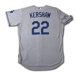 10/3/2013 CLAYTON KERSHAW LOS ANGELES DODGERS NLDS GAME 1 WORN JERSEY - 1ST CAREER POSTSEASON WIN! (MLB AUTH.)