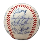 DON DRYSDALES 1966 LOS ANGELES DODGERS NATIONAL LEAGUE CHAMPION TEAM SIGNED BASEBALL (DRYSDALE COLLECTION)