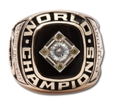 1967 ST. LOUIS CARDINALS 10K GOLD WORLD SERIES RING PRESENTED TO STAFF MEMBER (ANTHONY)