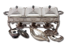 DON DRYSDALES 1963 MLB ALL STAR GAME PARTICIPATORY AWARD - CHAFING DISH BUFFET SET (DRYSDALE COLLECTION)