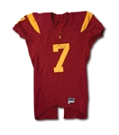 MATT BARKLEYS 9/5/2009 FIRST USC TROJANS GAME WORN JERSEY FROM FRESHMAN SEASON OPENER VS. SAN JOSE STATE (DELBERT MICKEL COLLECTION)