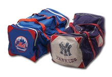 1970S-80S NEW YORK YANKEES AND NEW YORK METS PROFESSIONAL TEAM ISSUED EQUIPMENT BAGS (DELBERT MICKEL COLLECTION)