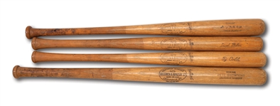 PETE BROWNING, TY COBB, HOME RUN BAKER AND BABE RUTH VINTAGE H&B BATS, USED BY ROGER MARIS IN 1962 FOR BATTING EXPERIMENT ARTICLE