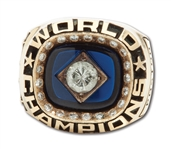 1978 NEW YORK YANKEES WORLD SERIES CHAMPIONSHIP 14K GOLD STAFF RING