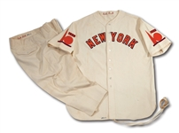 BABE RUTHS 1939 NEW YORK WORLDS FAIR WORN UNIFORM - ONE-OF-A-KIND UNIFORM CUSTOM MADE BY SPALDING FOR THE LEGENDARY BAMBINOS WORLDS FAIR APPEARANCES (RUTH FAMILY LOA)