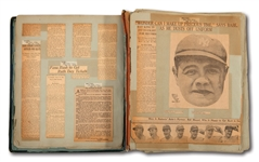 BABE RUTHS 1922 PERSONAL SCRAPBOOK CREATED FOR HIM BY CHRISTY WALSH (RUTH FAMILY LOA)