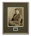 BABE RUTH SIGNED 1939 CENTENNIAL OF BASEBALL POSTAGE STAMP IN FRAMED DISPLAY (RUTH FAMILY LOA)