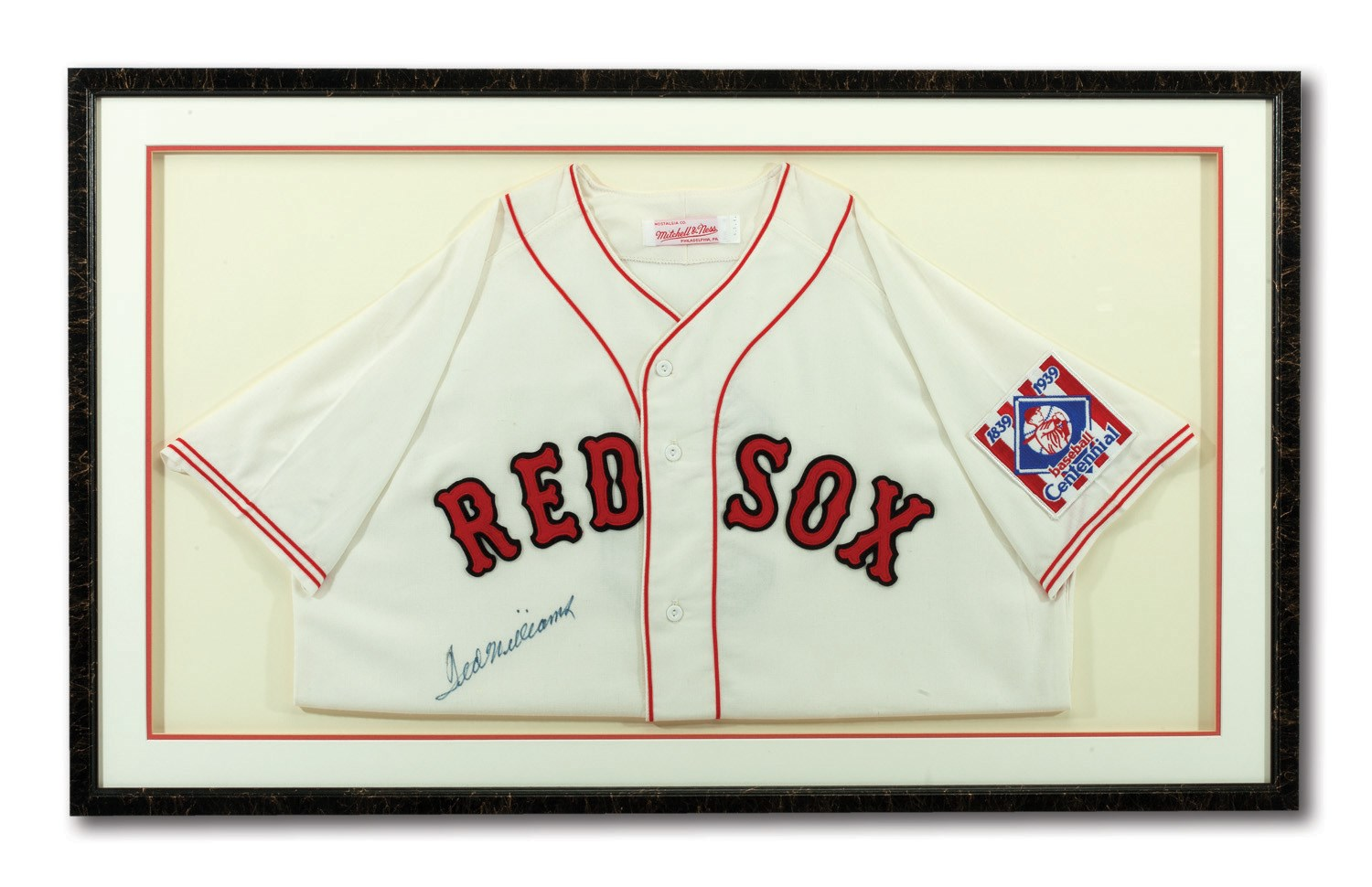 low priced 2f304 b3b8b Lot Detail - TED WILLIAMS AUTOGRAPHED BOSTON RED SOX ...