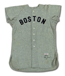 1954 MICKEY OWEN BOSTON RED SOX GAME WORN ROAD JERSEY (DELBERT MICKEL COLLECTION)