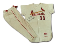 1964 JERRY BUCHEK AUTOGRAPHED ST. LOUIS CARDINALS WORLD SERIES GAME WORN HOME UNIFORM (DELBERT MICKEL COLLECTION)