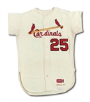 1967 JULIAN JAVIER ST. LOUIS CARDINALS (WORLD CHAMPIONSHIP SEASON) GAME WORN HOME JERSEY (DELBERT MICKEL COLLECTION)