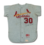 1967 ORLANDO CEPEDA AUTOGRAPHED ST. LOUIS CARDINALS (WORLD CHAMPIONSHIP SEASON) GAME WORN ROAD JERSEY (DELBERT MICKEL COLLECTION)