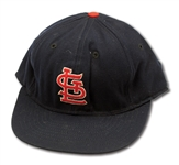 CURT FLOOD ATTRIBUTED ST. LOUIS CARDINALS GAME WORN CAP (DELBERT MICKEL COLLECTION)