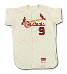 1967 ROGER MARIS ST. LOUIS CARDINALS (WORLD CHAMPIONSHIP SEASON) GAME WORN HOME JERSEY (MEARS A9, DELBERT MICKEL COLLECTION)