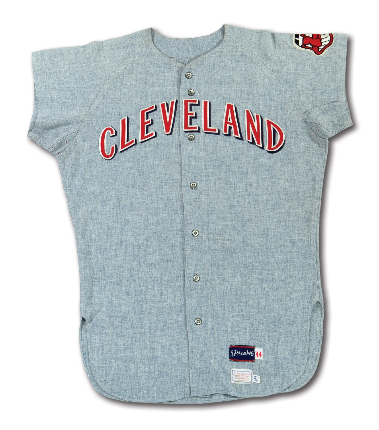 new arrival c88ae 735f4 Lot Detail - 1970 RUSTY NAGELSON CLEVELAND INDIANS GAME WORN ...