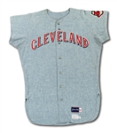 1970 RUSTY NAGELSON CLEVELAND INDIANS GAME WORN ROAD JERSEY (DELBERT MICKEL COLLECTION)