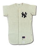 1970 RON WOODS NEW YORK YANKEES GAME WORN HOME JERSEY (DELBERT MICKEL COLLECTION)