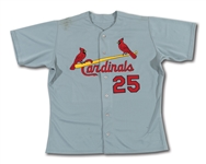 1999 MARK MCGWIRE ST. LOUIS CARDINALS GAME WORN ROAD JERSEY (DELBERT MICKEL COLLECTION)