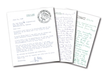 GROUP OF (3) TY COBB 1950S LETTERS TO LOU BRISSIE INCL. (2) MULTI-PAGE HANDWRITTEN AND (1) TLS ALL WITH HAND-ADDRESSED ENVELOPES (BRISSIE FAMILY LOA)