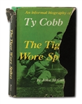 "TY COBB SIGNED FIRST EDITION COPY OF HIS BOOK ""THE TIGER WORE SPIKES"" (BRISSIE FAMILY LOA)"