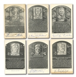 COLLECTION OF (11) SIGNED 1953-63 ARTVUE BLACK & WHITE HALL OF FAME POSTCARDS INCL. FOXX, BAKER, SISLER, ETC. (BRISSIE FAMILY LOA)