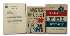 PAIR OF J. EDGAR HOOVER SIGNED BOOKS AND SIGNED LETTER TO LOU BRISSIE (BRISSIE FAMILY LOA)