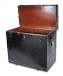 "WALTER ALSTONS MASSIVE (36"" X 39"" X 22"") BROOKLYN DODGERS EQUIPMENT TRUNK WITH RELATED LARGE FORMAT ORIGINAL CLUBHOUSE PHOTOGRAPH (ALSTON COLLECTION)"