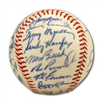 WALTER ALSTONS 1963 LOS ANGELES DODGERS WORLD CHAMPION TEAM SIGNED BASEBALL (ALSTON COLLECTION)