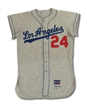 1959 LOS ANGELES DODGERS (WORLD CHAMPIONSHIP SEASON) ROAD JERSEY ISSUED TO NON-ROSTER PLAYER (WALLACE) WITH ALTONS NUMBER 24 (ALSTON COLLECTION)