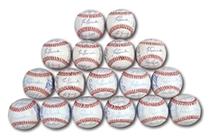 WALTER ALSTONS LOT OF (17) 1984 LOS ANGELES DODGERS TEAM SIGNED BASEBALLS (ALSTON COLLECTION)