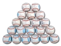 WALTER ALSTONS LOT OF (20) 1985 LOS ANGELES DODGERS TEAM SIGNED BASEBALLS (ALSTON COLLECTION)