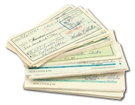 LOT OF (88) WALTER ALSTON SIGNED PERSONAL CHECKS (ALSTON COLLECTION)
