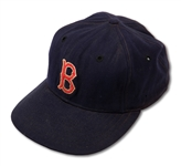 1950S TED WILLIAMS ATTRIBUTED BOSTON RED SOX GAME WORN CAP FROM THE PERSONAL COLLECTION OF BOB BREITBARD (SDHOC COLLECTION)