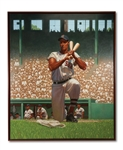 TED WILLIAMS MASSIVE 5 X 6 ORIGINAL OIL ON CANVAS BY KADIR NELSON (SDHOC COLLECTION)